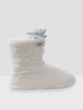 Zapatillas tipo botines oso crudo.