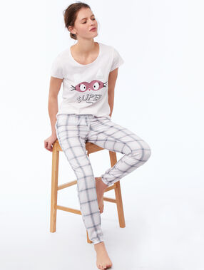 Camiseta manga corta mensaje positivo rosa pálido.