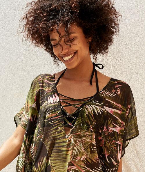 Tunique motif tropical