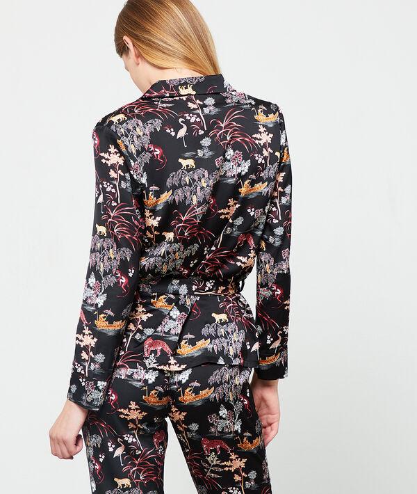 Camisa pijama estampado oriental