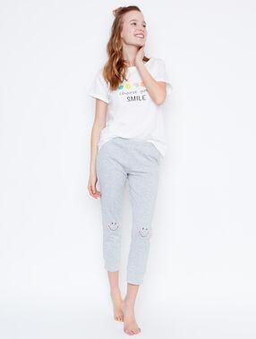 Pantalón largo smiley c.gris.