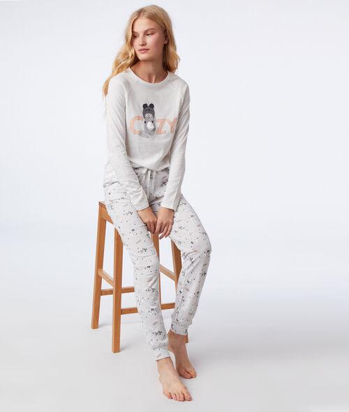 Pijama 3 piezas estampado de gato