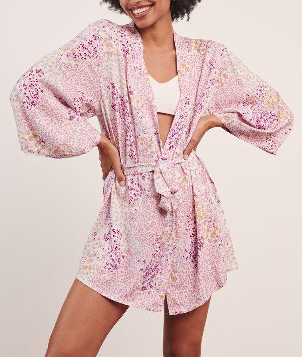 Bata tipo kimono estampada;${refinementColor}