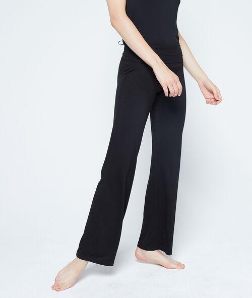 Pantalón largo de viscosa