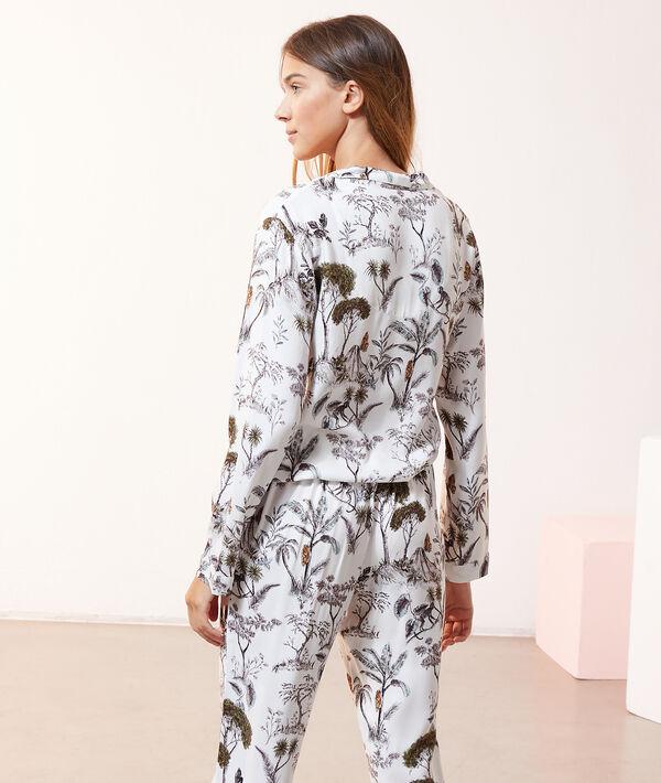 Chemise de pyjama imprimé paysage;${refinementColor}