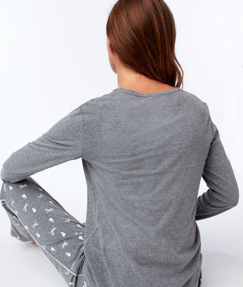 Camiseta manga larga estampado unicornio