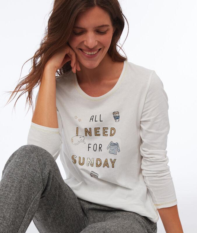 Camiseta manga larga mensaje crudo.