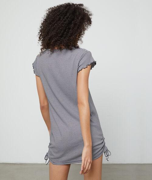 Camisón estampado rayas con fruncidos