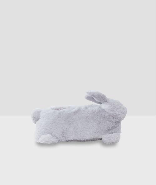 Zapatillas tejido peluche conejo