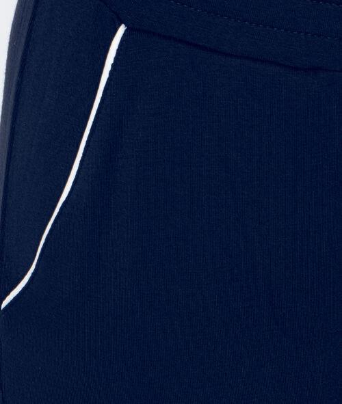 Pantalón pijama franja contrastada