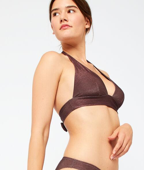 Sujetador bikini triangular tejido iridiscente