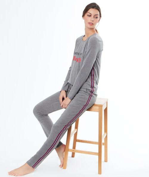 Pantalón largo franjas laterales