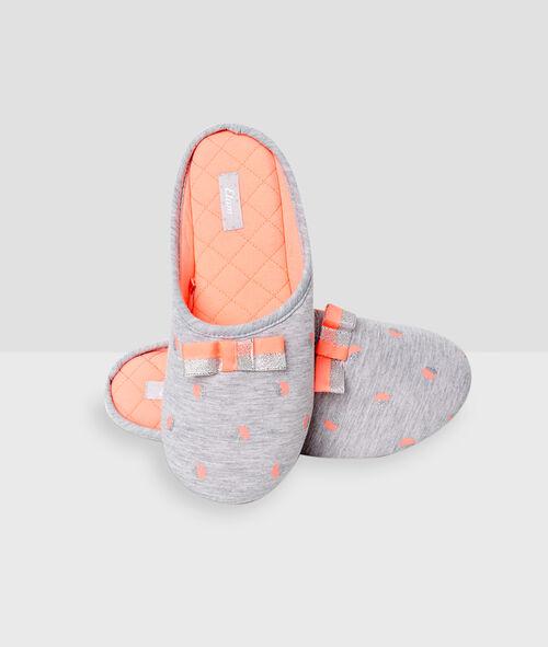 Zapatillas destalonadas estampado a lunares