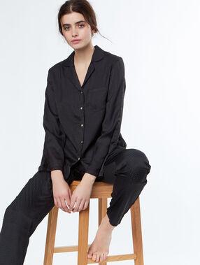 Camisa pijama negro.