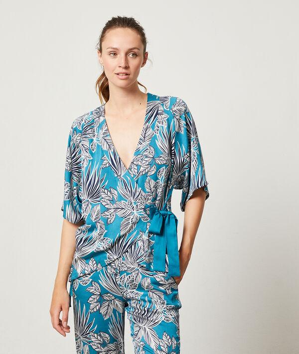 Camisa pijama anudada;${refinementColor}