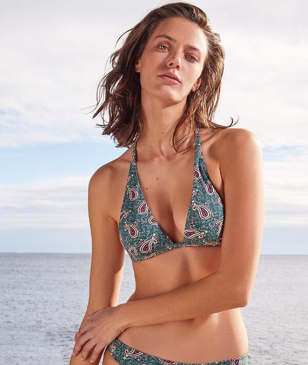 Sujetador bikini triángulo sin aros;${refinementColor}