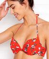 Sujetador bikini push up estampado floral. Copa B