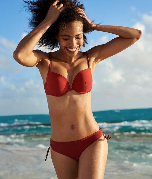 Braguita bikini lisa adornos metálicos
