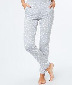Pantalón largo estampado borreguitos c.gris.