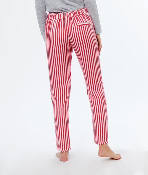 Pantalón estampado a rayas