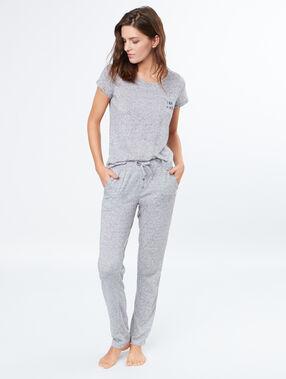 Camiseta manga corta jaspeada c.gris.