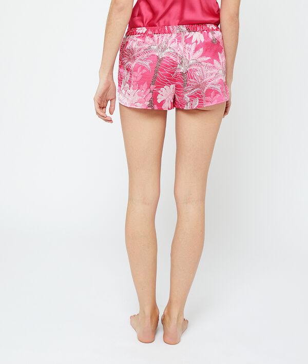 Pantalón corto de satén estampado tropical;${refinementColor}