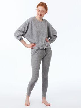 Pantalón leggings suave relieve c.gris.