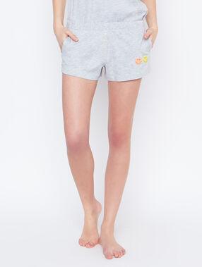 Pantalón corto smiley c.gris.