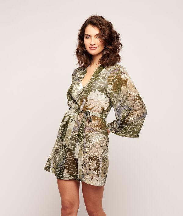 Kimono estampado tropical;${refinementColor}