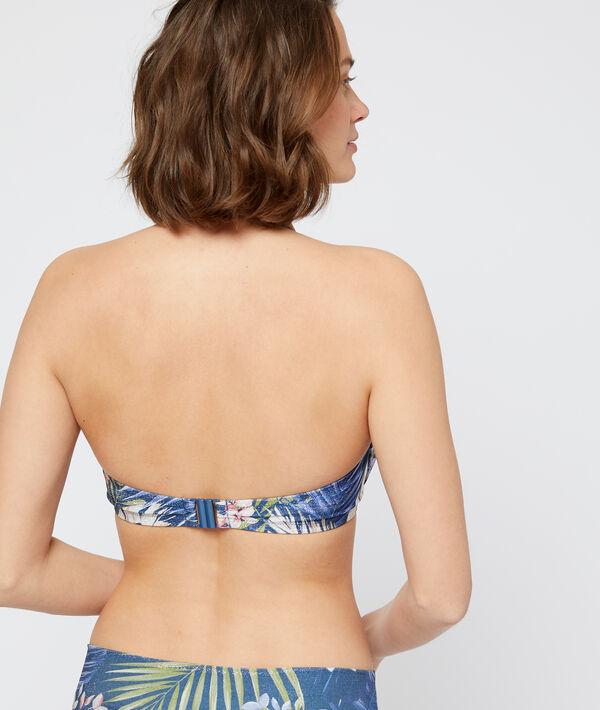 Sujetador bikini con foam, estampado tropical