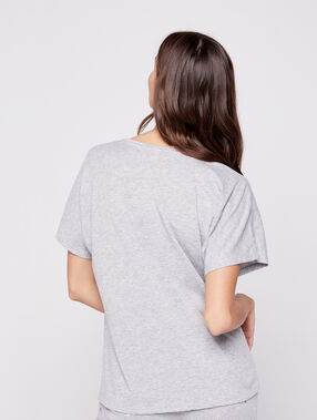 Camiseta estampado piña c.gris.