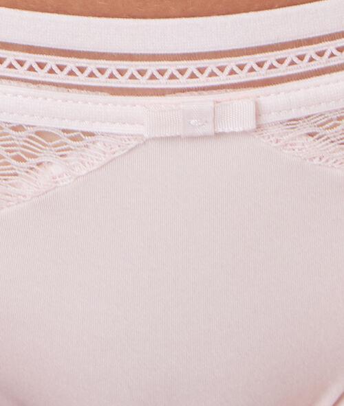 Braguita brasileña de encaje y microfibra
