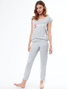 Pantalón jaspeado c.gris.