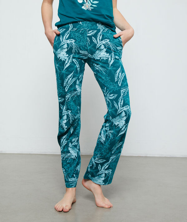 Pantalón estampado algodón orgánico;${refinementColor}