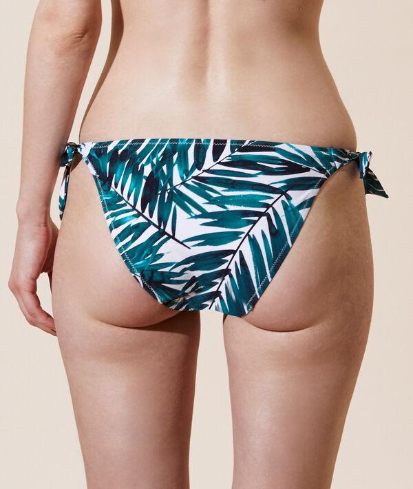 Braguita bikini estampada, lazos laterales;${refinementColor}