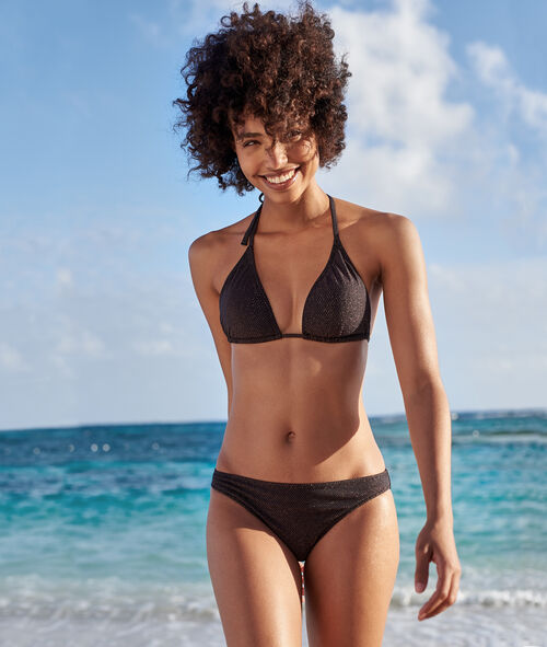 Sujetador bikini triangular tejido brillante