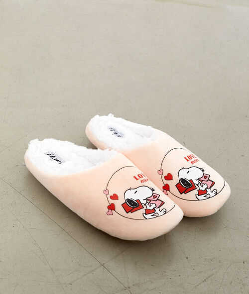 Zapatillas destalonadas con forro Snoppy