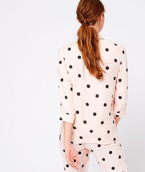 Camisa pijama estampado de lunares