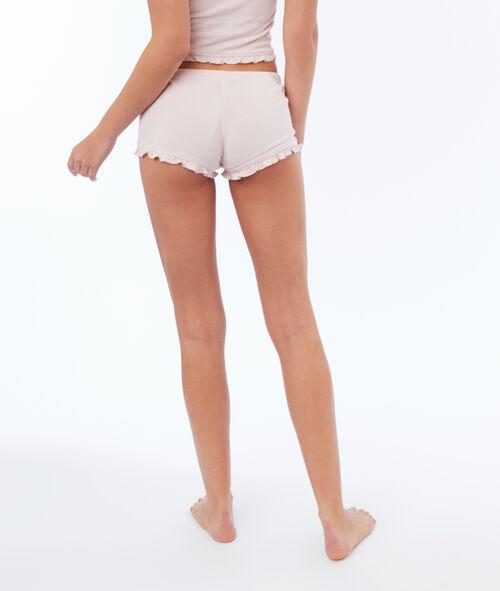 Pantalón corto suave relieve