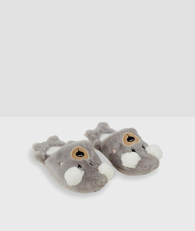 Zapatillas destalonadas osos c.gris.