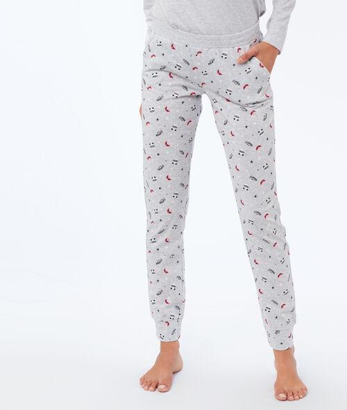 Pantalón estampado pandas