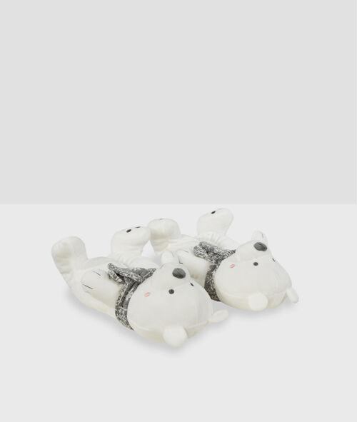 Zapatillas tejido peluche oso