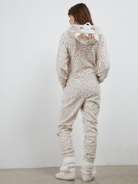 Mono tejido peluche jirafa c.beige.