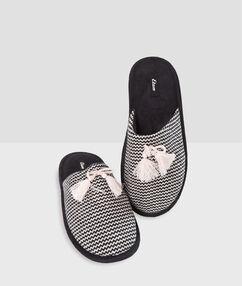Zapatillas estampado gráfico negro.