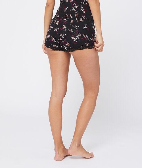 Pantalón corto de viscosa estampado floral