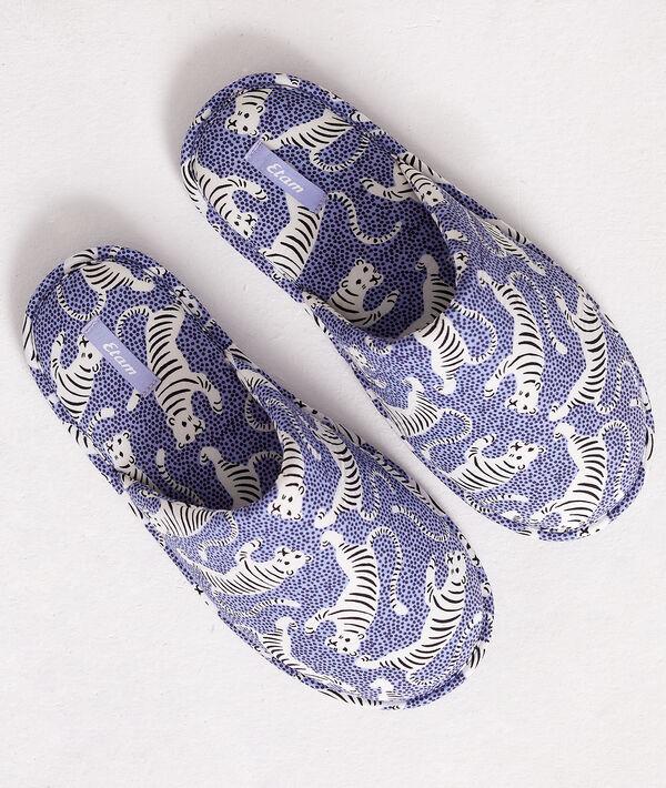 Zapatillas destalonadas estampado tigres;${refinementColor}