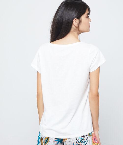 Camiseta de algodón estampado jirafa