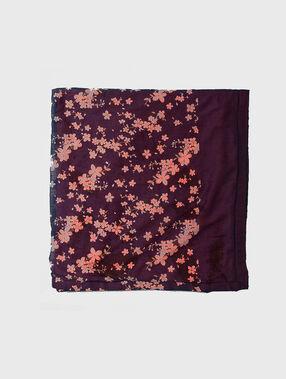 Toalla algodón estampado floral multicolor.