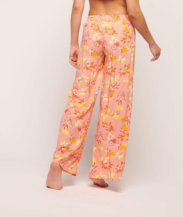 Pantalón recto estampado floral;${refinementColor}