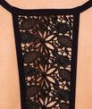 Sujetador bikini triangular con motivos croché